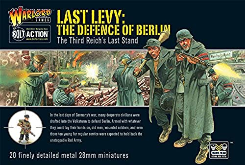 WWII Last Levy  The Defence of Berlin, German Troops - 28mm Metal Figures by Warlord Games