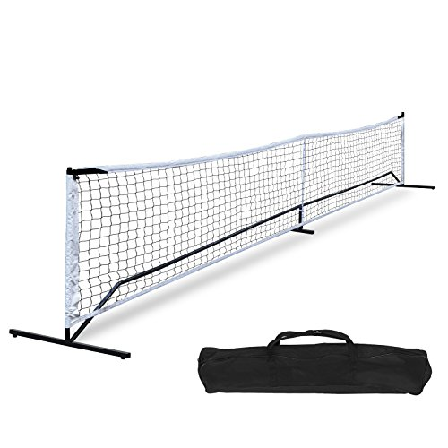 F2C Portable Universal Recreational 22FT Pickleball Net Soccer Tennis Net Game Set System W/Metal Frame Stand and A Carrying Bag, Family Sport Games