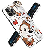 Disney Case for iPhone 12 Pro Max Case Cute Cartoon Designer with Stand Straps 6.7 inch, iPhone 12 Pro Max Case Disney Funny Cool Squirrel Chip Dale Case Protective Soft Case for Girls Boys