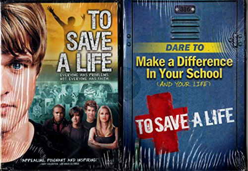 """To Save A Life LIMITED EDITION DVD SET Includes DVD and 96 Page Inspirational Book """"Dare To Make a Difference in Your School and Your Life"""""""