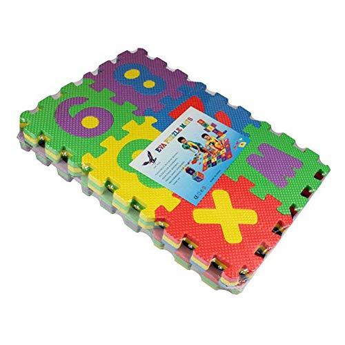 Puzzlematten Bodenpuzzles Puzzle Spielmatte Verzahnte Puzzle Quadrate fördern die visuelle-sensorische Entwicklung Sanfte Baby-Bodenmatte 36 Quadrate mit lebendigen Tierbildern um die Aufmerksamkeit