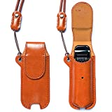 Smok Novo 2 and Novo 1 Kit Leather Protective Case with Magnetic Closure 360-Degree All-Inclusive Protection Lanyard Pocket Holder (Brown)