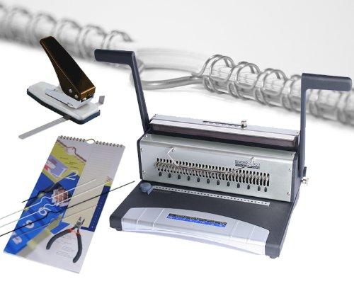 Wire Binder S303 - Kalenderset- weiß / Bindegerät, Daumenlochstanze, Kalenderaufhänger, Drahtelemente...