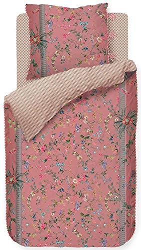 PIP Studio Juego de cama Petites Fleurs rosa 1 funda nórdica de 155 x 200 cm + 1 funda de almohada de 80 x 80 cm