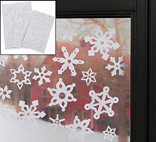 Winter Wonderland Schneeflocke Fenster klammert Sich an (69PCS. Pro Set) 11/2–3. Wiederverwendbar Vinyl