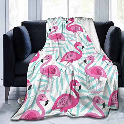 Mantas de Tiro: Manta de vellón de Flamenco Rosa, Manta de Microfibra Ultra Suave para Mantas y Mantas de sofá de Dormitorio