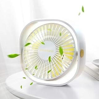 SMARTDEVIL Portable Desk Fan, Small Personal USB Desk Fan, Desktop Table Cooling Fan Powered by USB Fan with 3 Speeds, Str...
