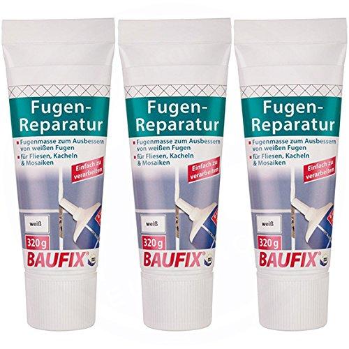 3 x Baufix Fugenreparatur (weiß) 320 g pro Tube