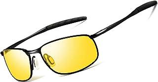 Night Vision Glasses for Driving - Feirdio HD night driving glasses anti glare polarized mens women glasses (yellow-rectangle)