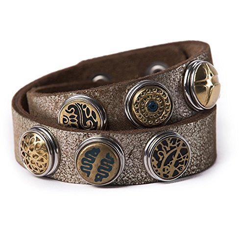 Noosa Armband Wrap Double Skinny Lumus brown shimmer, Grösse:XS
