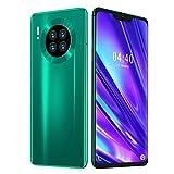 Aukson Smartphones desbloqueados 6.7in, galvanoplastia Color Degradado Teléfono móvil 800W + 1300W Identificación Facial Teléfono Desbloqueado 6 + 64G ROM + 128GB Memoria expandida(Enchufe de la UE)