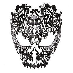 Black Devil Full Face Skull Masquerade Mask