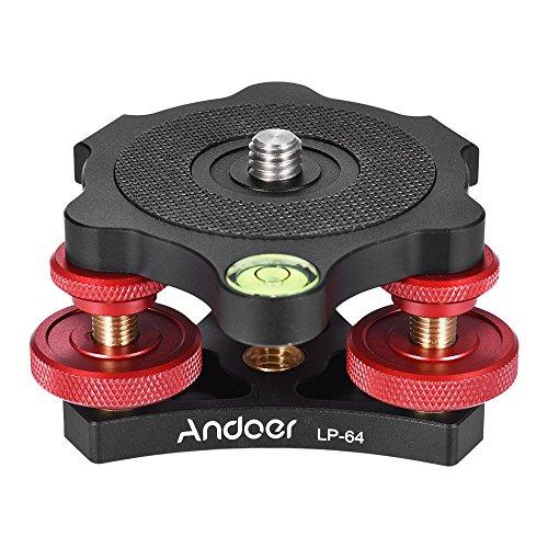 Andoer LP-64 Base Niveladora del Trípode Nivelador de la Precisión de la...
