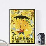 Nacnic Vintage Poster Vintage Poster Europa. Es regnet