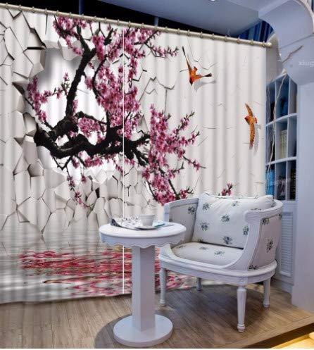 Sala de Estar Creativa Cortinas de Dormitorio Hermosas Cortinas de Flores decoración de la Ventana Cortinas de Pared rotas para el hogar wide200cm high150cm