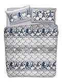 HomeLife Trapunta Matrimoniale Invernale 260X280 Made in Italy | Piumone Letto Matrimoniale 300 gr/mqAutunno/Inverno | Caldo Piumone Anallergico |Piumino Stampa Gnomi| Rosso, 2P