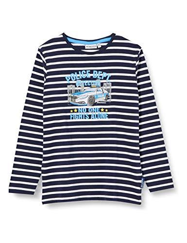 Salt & Pepper Jungen 03111152 Langarmshirt, Blau (Navy 498), 116 (Herstellergröße: 116/122)