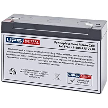 Lightalarms 8600018 6V 7Ah Emergency Light Battery This is an AJC Brand Replacement