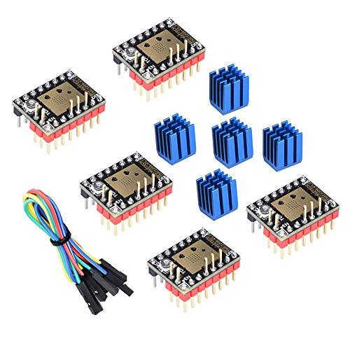 BIGTREETECH DIRECT TMC2209 UART TMC2208 Schrittmotor-Treiber Stepsticks Mute VS TMC2130 TMC2100 TMC2225 für SKR V1.3 Pro Motherboard (5 Stück)
