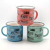 Jumi Surtido 3 Tazas MUG - Porcelana 3 Colores Granada (Porcelana)