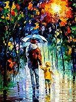 Diy油絵 抽象的な父と息子 40X50Cm 塗り絵 手塗り Diy絵 デジタル油絵 手芸 画材 手工芸 キット 芸術 工芸 Diy 手作り 装飾品