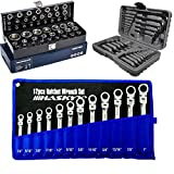 Jeu de 30 clés à six pans creux métriques et pouces + 12 pièces articulation de la mâchoire - Outil Harley 1/4' - 1' + clé à douille