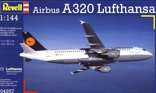 Revell Modellbausatz Flugzeug 1:144 - Airbus A320 Lufthansa im Maßstab 1:144, Level 3, originalgetreue Nachbildung mit vielen Details, Zivilflugzeug, Passagierflugzeug, 04267