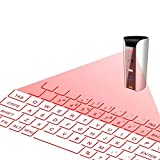 GYAM Laser Wireless Projection Tastiera Bluetooth Virtual Keyboard, Mini Macchina da Scrivere Ultraportatile Accessorio per iPhone, iPad, Smart Phones, Android, Bianco