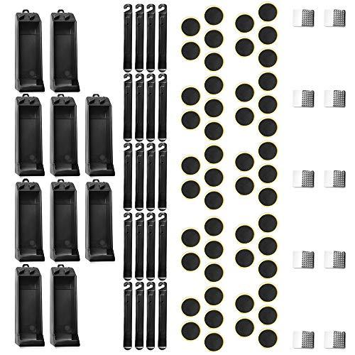 SONSYON 10 Kits De Reparación De Pinchazos De Neumáticos con Limas Metálicas Y Herramientas Múltiples para Bicicletas De Palanca,Parche De Neumático 5 Piezas/10 Juegos