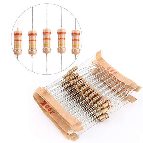Kit assortimento di resistori a film di carbonio 5% 1000 valori 100%, resistenza da 1ohm a 10M ohm 1 / 2W, componenti elettronici della resistenza per progetti Arduino, Respberry Pi