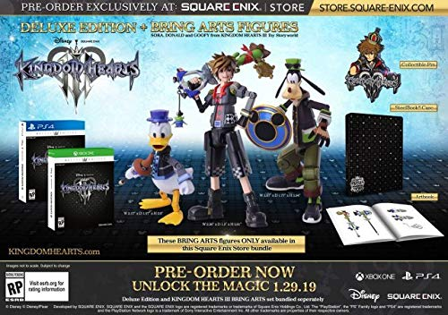 Kingdom Hearts 3 Bring Arts Action Figura Sora, Donald Duck and ...