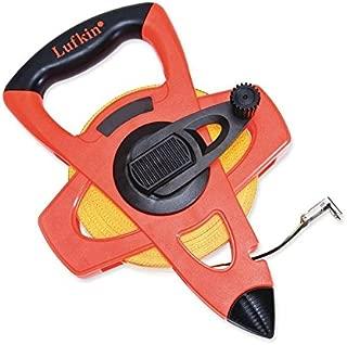 "Crescent Lufkin 1/2"" x 300' Hi-Viz Orange Engineer's Fiberglass Tape Measure - FE300D"