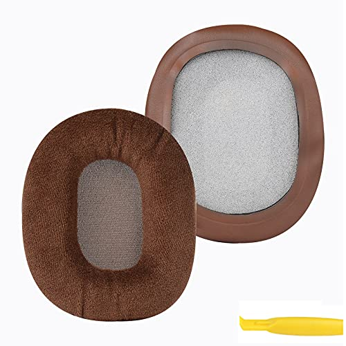 Geekria Earpads for Turtle Beach Stealth 400 450 500X 520 600 700 800 Headphones Replacement Ear Pad/Ear Cushion/Ear Cups/Ear Cover/Earpads Repair Parts (Brown Velvet)