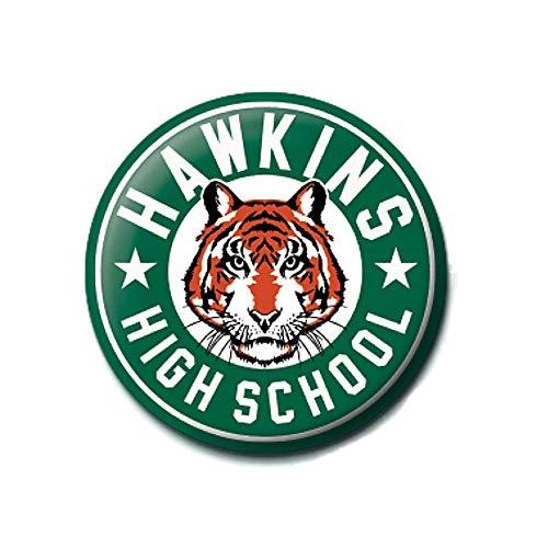 Pritties Accessories Echte Stranger Things Hawkins High School Taste Abzeichen Stift Netflix Monster auf den Kopf