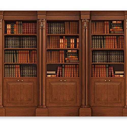 murando Papier peint intissé 350x256 cm Décoration Murale XXL Poster Tableaux Muraux Tapisserie Photo Trompe l'oeil bibliotheque livres i-B-0016-a-a