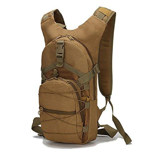 Greenpromise Molle Taktischer Rucksack, 15 l, 800D Oxford, Militär, Wandern, Radfahren, Klettern, Camping, Khaki