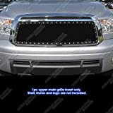 APS Compatible with 2010-2013 Tundra Stainless Black Rivet Stud Mesh Grille Grill Insert TL6755H