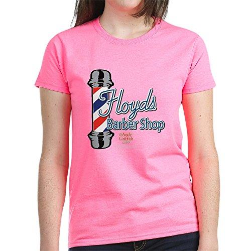 CafePress - Floyds Barber Shop - T-shirt en coton pour femme - Rose - Medium