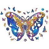 Puzzles En Bois, Pièces De Puzzle De Forme Unique De Papillon, Meilleur Cadeau Pour Adultes Et Enfants, Puzzles Animaux Colorés