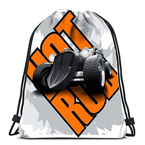 Lmtt Mochilas con cordón Mochila Hot Rod Mockup Mochilas de Viaje editables en Capas Mochila Escolar Tote