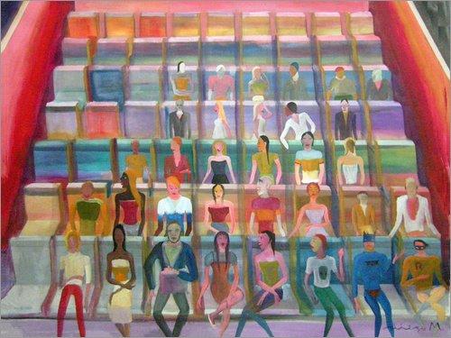 Posterlounge Leinwandbild 70 x 50 cm: Parkett von Diego Manuel Rodriguez - fertiges Wandbild, Bild auf Keilrahmen, Fertigbild auf echter Leinwand, Leinwanddruck
