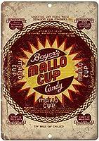 ボイヤーズマロカップキャンディーティンサイン壁の装飾金属ポスターレトロプラーク警告サインオフィスカフェクラブバーの工芸品
