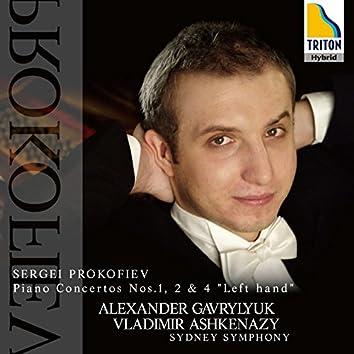 Prokofiev: Piano Concertos Nos. 1, 2 & 4 ''Left hand''