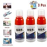 Spray Para El Dolor Muscular, Alivio Para Artritis, Dolor de Espalda, Esguinces (3 Pcs)