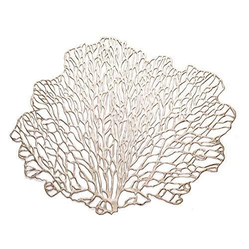 PLACEMATSJING 4 stuks onregelmatige tafelmatten in boomvorm decoratie restaurant voor keuken eetkamer hotel party bedrukt warm tafelkleed
