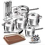 BLAUMANN Set di pentole, padelle, casseruola, portaspezie 28 Pezzi per Tutti I Piani Cottura