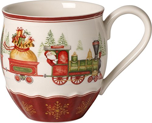 Villeroy & Boch Annual Christmas Edition 2017 Mug Dell' Anno, Porcellana, Bianco