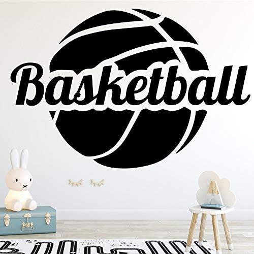 Typpk spaß basketball wandaufkleber mode kunst für jungen schlafzimmer indoor stadion wohnkultur kunst wandaufkleber braun 43x28 cm