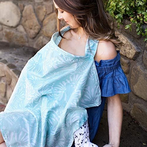 Bebe au Lait Premium Cotton Nursing Cover, Lightweight and Breathable Cotton, Open Neckline, One Size Fits All - Acapulco