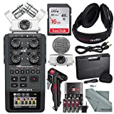 Zoom H6 Six-Track Portable Recorder with Interchangeable Microphone System with Deluxe Accessory Bundle sound recorder Apr, 2021